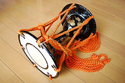 Japanese small hand drum,kotsudumi,katori-city,japan.JPG