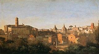 Le Forum vu des jardins Farnèse