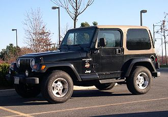 Four-wheel drive - The Jeep Wrangler is a 4WD vehicle with a transfer case to select low range or high range four-wheel drive