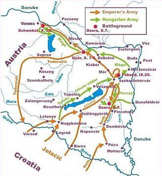 Battle of Pákozd - Jelačić's attacks in the last quarter of 1848