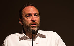 Wikipedian of the Year - Image: Jimmy Wales during his keynote speech at Wikimania 2013