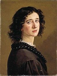 Johanne Mathilde Dietrichson - Selvportrett av Mathilde Bonnevie Dietrichson - 1865 - Oslo Museum - OB.00108.jpg