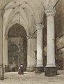 Johannes Bosboom -Zuidelijke zijbeuk van de Grote Kerk in Den Haag, met zeventiende-eeuwse figuren.jpg
