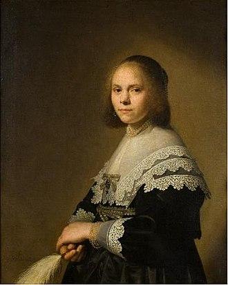 Girl in a Blue Dress - Image: Johannes Cornelisz Verspronck Portrait of a lady with an ostrich feather fan 1640