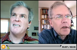 "John Horgan (journalist) - Horgan and George Johnson on a ""Science Faction"" episode of Bloggingheads.tv."