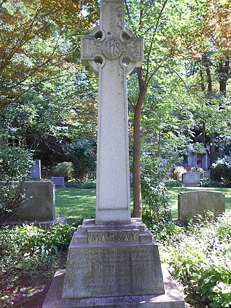 John Keiller MacKay - The gravestone of MacKay (section Q-154) in Mount Pleasant Cemetery