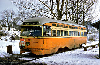 Johnstown Traction Company - Johnstown Traction Company PCC streetcar PCC 407 in the 1950s
