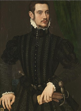 Jooris van der Straeten - Portrait of a gentleman, said to be Perari Di Cremona