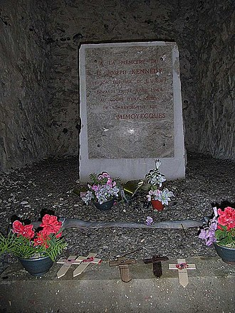 Joseph P. Kennedy Jr. - Memorial for Joseph Kennedy Jr. inside the fortress of Mimoyecques (France)