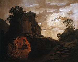 Silius Italicus - A painting by Joseph Wright of Derby depicting Silius Italicus at the tomb of Virgil.
