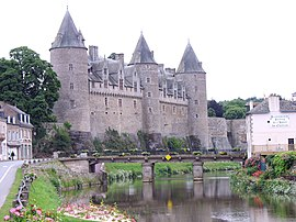 View of Josselin Castle from the River Oust