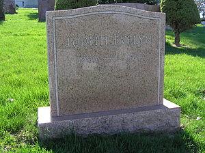 Judith Evelyn - The gravesite of Judith Evelyn
