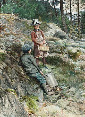 Julius Kronberg - Kurtis i skogsbacken