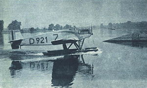 Junkers W 33 - Junkers W 33 first prototype D-921 at the Deutschen Seeflug competition, July 1926