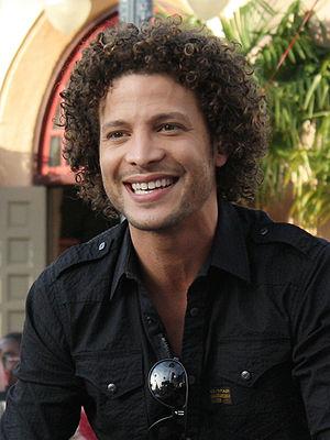 Justin Guarini - Guarini in The American Idol Experience motorcade at Walt Disney World in 2009.