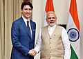 Justin Trudeau with Narendra Modi at Hyderabad House in New Delhi - 2018 (cropped).jpg