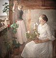 Károly Ferenczy - Girls tending flowers.jpg
