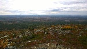 Kittilä - View from the top of Kätkätunturi