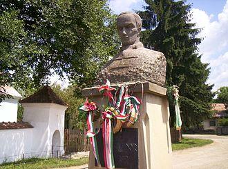 Covasna - The statue of Sándor Kőrösi Csoma