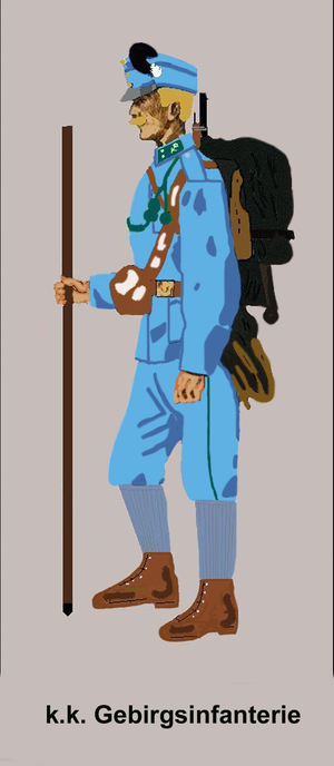Imperial-Royal Mountain Troops - State rifleman in mountain dress after 1908