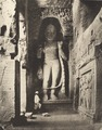 KITLV 88121 - Unknown - Sculture of Buddha in a temple at Kanheri in British India - 1897.tif