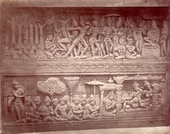 KITLV 90023 - Isidore van Kinsbergen - Reliefs on the Borobudur near Magelang - Around 1900.tif
