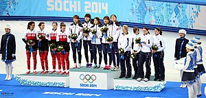 KOCIS Korea ShortTrack Ladies 3000m Gold Sochi 38 (12629494153).jpg