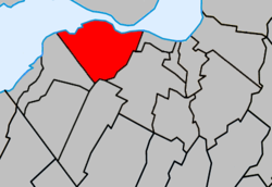 Location of Kahnawake, outside of Roussillon RCM.