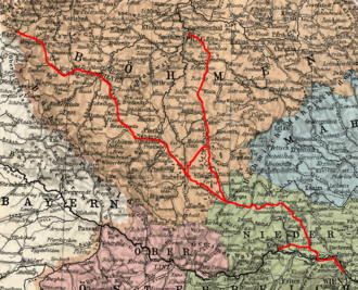 Emperor Franz Joseph Railway - KFJB network