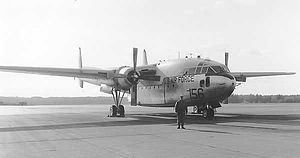 Grenier Air Force Base - The last C-119 to fly out of Grenier before it closed