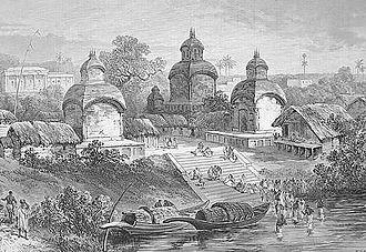 Adi Ganga - Image: Kalighat Temple, 1887