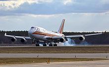 Kalitta air 747 cargo service arrives from bahrain