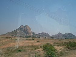 Akkammagari Konda and surrounding Hills.