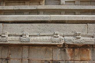 Achyuta Deva Raya - Kannada inscription (1536 A.D.) of King Achyuta Deva Raya on molding of Vittala temple in Hampi