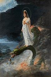 Harada Naojirō: Guanyin riding the dragon