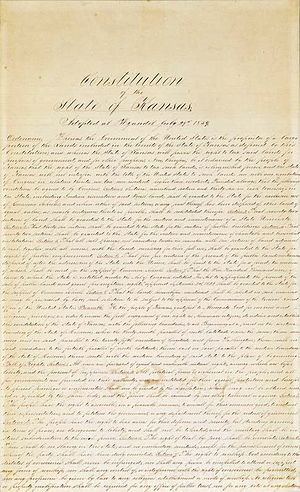 Wyandotte Constitution - Page 1 of the Kansas Constitution