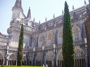 Batalha Monastery - Cloister hall of the monastery.