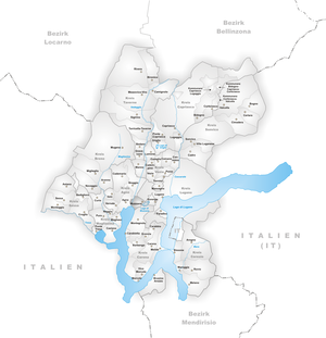 Muzzano, Ticino - Image: Karte Gemeinde Muzzano