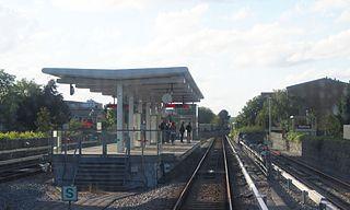 metro station in Copenhagen, Denmark