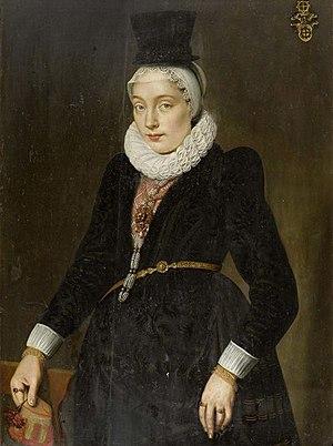 Samuel Hoffmann - Katharina von Mülinen (1597 -1620), painted by Hoffman in 1617.