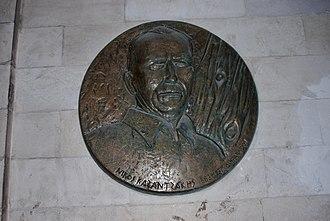 Nikos Kazantzakis - Medallion honoring Kazantzakis in the Venetian Loggia, Heraklion