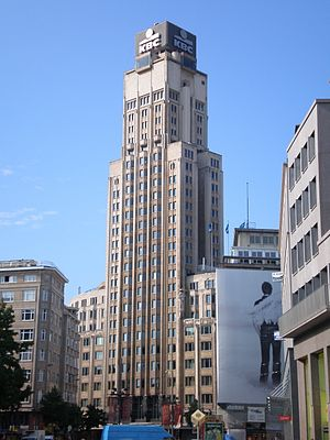 Boerentoren - Antwerp Skyline, with Boerentoren on the right