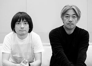 J-pop - Shibuya-kei artist Keigo Oyamada (left) with YMO member and Grammy Award winner Ryuichi Sakamoto (right)