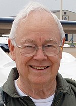 Keith Ferris--aviation artist-Columbus AFB--27 June 2007--following a flight in a T-37.jpg