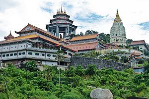 Kek Lok Si - Kek Lok Si Temple viewed from Air Itam