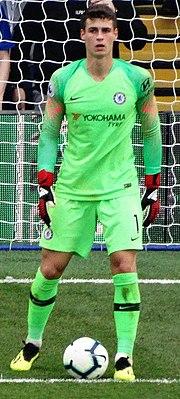 Kepa a Chelsea színeiben 2018-ban