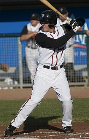 Kevin Ahrens - Ahrens as a member of the Class-A Lansing Lugnuts in 2008