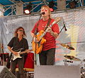 Kim Simmonds and David Malachowski, Savoy Brown (featuring Kim Simmonds), South Street Seaport, Bloomberg Blues Jam, 2002.jpg