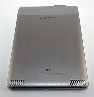 The back of the Amazon Kindle 2