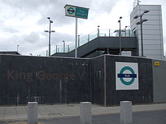 King George V stn entrance.JPG